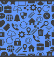 web and computer basic icons vector image vector image