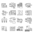 Web Design Line Icon Set vector image vector image