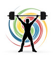 weight lifting shape graphic vector image vector image