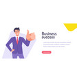 with businessman character in vector image