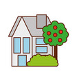 house tree residence property real estate vector image