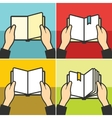 Book for learning in hands vector image