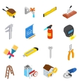 Repair and construction working tools icons set vector image