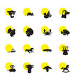 16 animal icons vector image vector image