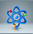 3d atom icon with color circle vector image vector image