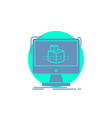 3d cube dimensional modelling sketch glyph icon vector image vector image