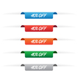 40 percent off paper tag label vector image vector image