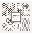 A set of four seamless patterns Zigzag vector image vector image