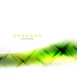 Abstract background green wave business template vector image vector image