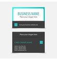 Abstract modern business cards vector image