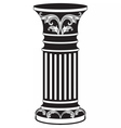 Architectural decorative column vector image