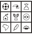 assembly stylish black and white icons Brazil vector image vector image