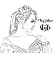 beautiful young women in fashion clothes detailed vector image vector image