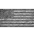 Black and white USA flag on a brick wall vector image vector image