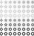 Black star shape collection vector image vector image