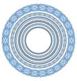blue colour set of round geometrical frames vector image