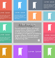 bookmark icon sign Set of multicolored buttons vector image