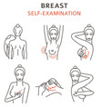 breast cancer medical infographic self vector image vector image