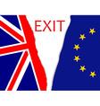 Brexit secession vector image vector image