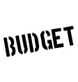 Budget black rubber stamp on white