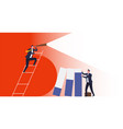 business vision business risk protection vector image vector image