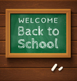 chalkboard green school vector image