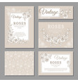 classic wedding vintage invitation cards with vector image vector image