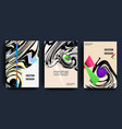 covers with minimal design 3d wavy shape vector image