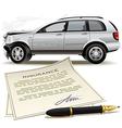 Crash car insurance vector image vector image