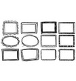 different designs for frames vector image vector image