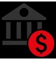 Dollar Bank Flat Icon vector image