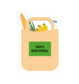 eco-friendly paper bag with products for a healthy vector image