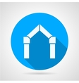 Flat icon for gates arch vector image vector image