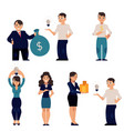 flat office people set vector image