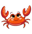 funny cute ocean crab isolated vector image