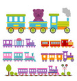 game gift kids train travel railroad vector image vector image