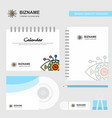 gear eye logo calendar template cd cover diary vector image vector image