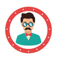 gentleman character hipster style vector image