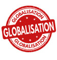 globalisation sign or stamp vector image vector image