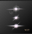 glowing lights and stars on transparent vector image vector image