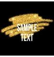 Golden sparkles brushstroke background vector image vector image