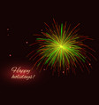 green red yellow fireworks background copy space vector image vector image