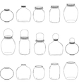 Jars set silhouettes jars vector image