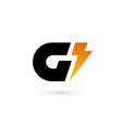 Letter G lightning logo icon design template vector image vector image