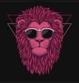 lion head pink vector image vector image