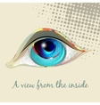 Look the human eye vector image