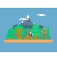 Lumberjack in wood under Mountain Concept vector image vector image