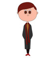 man with coat on white background vector image vector image