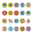 Map and Navigation Icons 2 vector image
