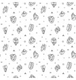 modern cubism surreal faces on seamless pattern vector image